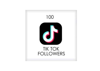 100 tik tok FOLLowers