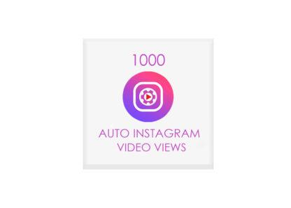 1000 auto instagram video views