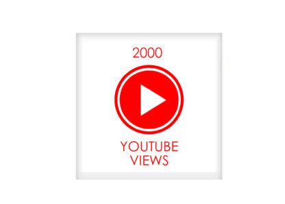 2000 youtube VIEWS