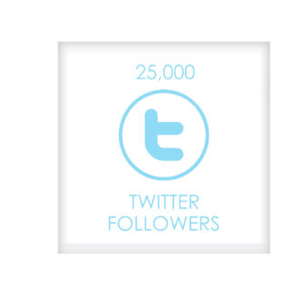 25.000 TWITTER FOLLOWERS