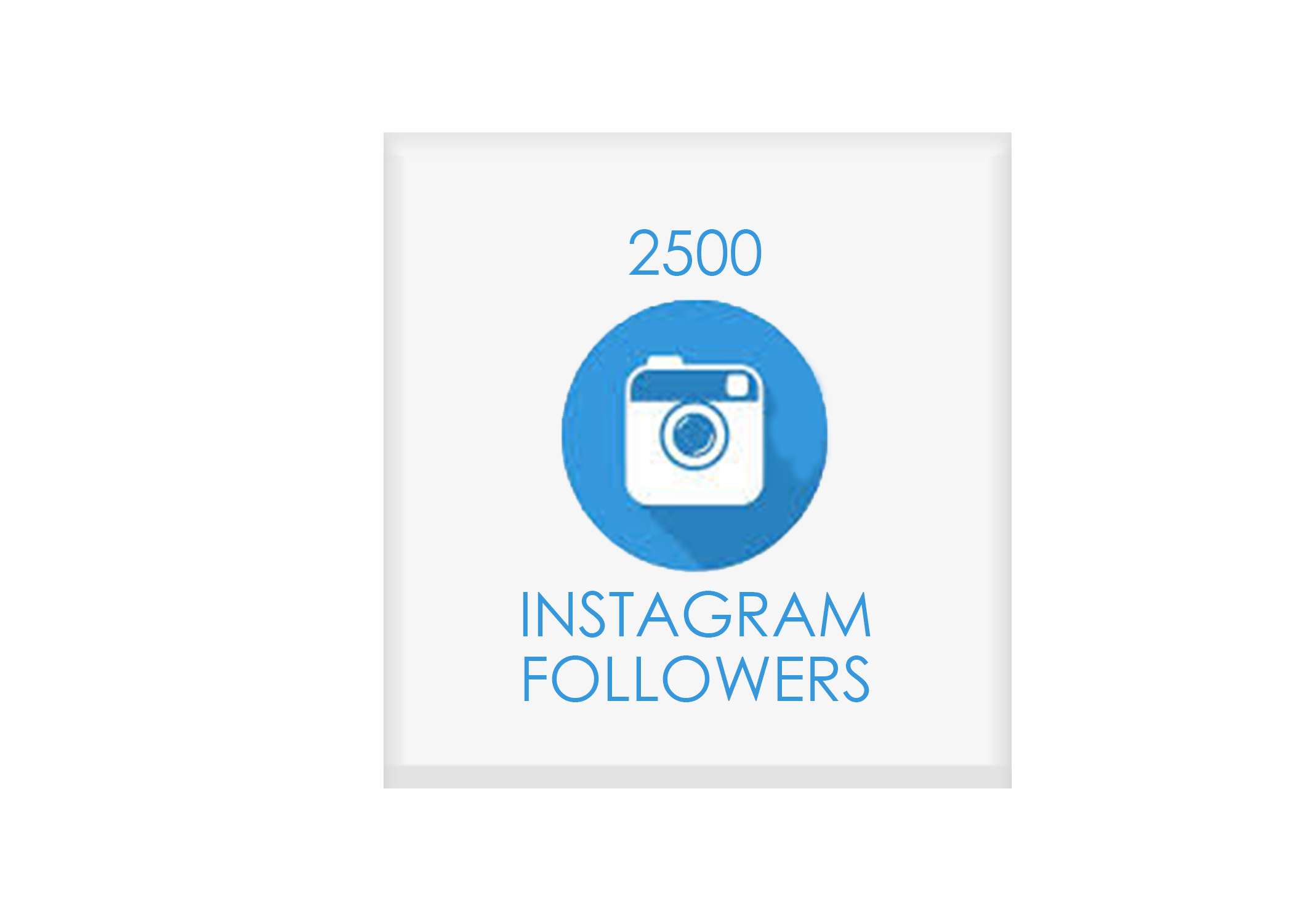 2500 instagram followers