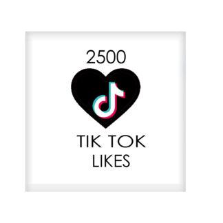 2500 tik tok likes