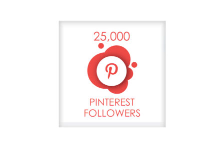 25,000 pinterest followers