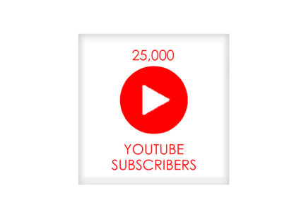 25,000 youtube subscribers