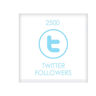 2500TWITTER FOLLOWERS