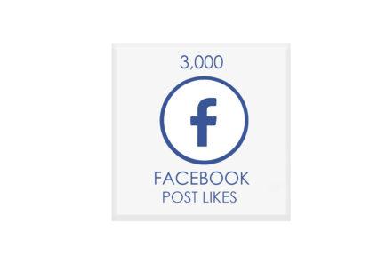 3000 facebook POST likes