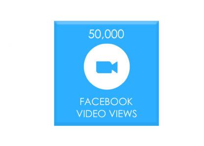 50,000 facebook video views