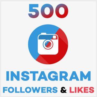500 Followers Likes